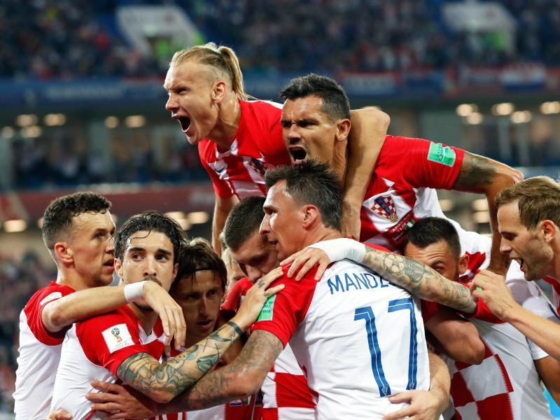 Fussball Kroatien Russland