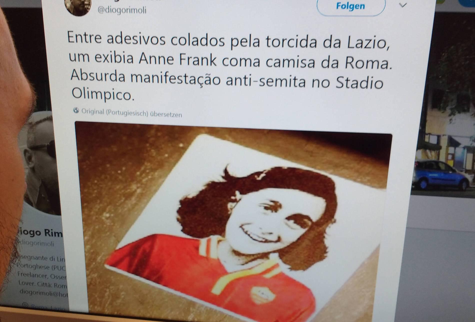 Anne Frank Bild Missbraucht Bvb Hooligans Kopieren