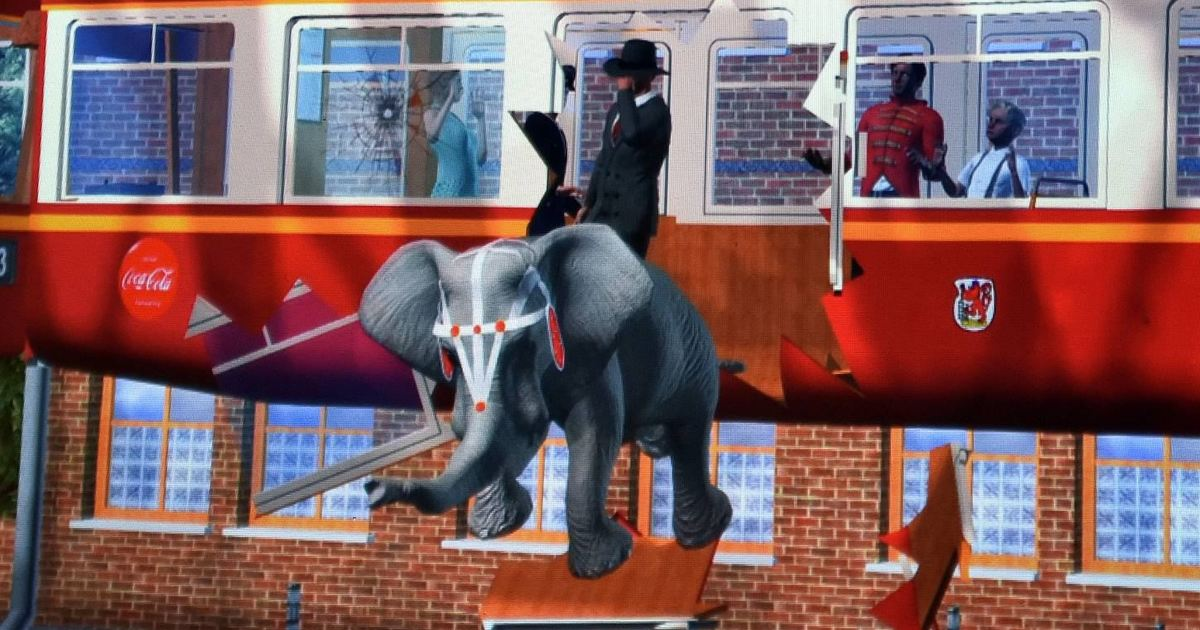 Wuppertal Schwebebahn Elefant Video