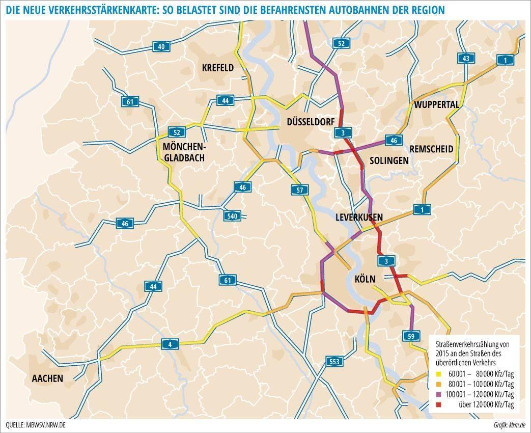 Nrw Der Stress Auf Unseren Autobahnen In Zahlen