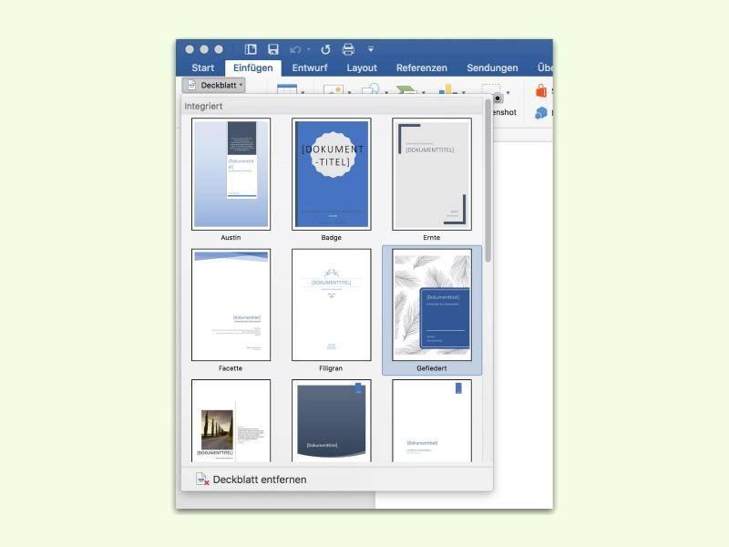 Praktisch Und Sinnvoll Deckblatt Für Word Dokumente Unkompliziert