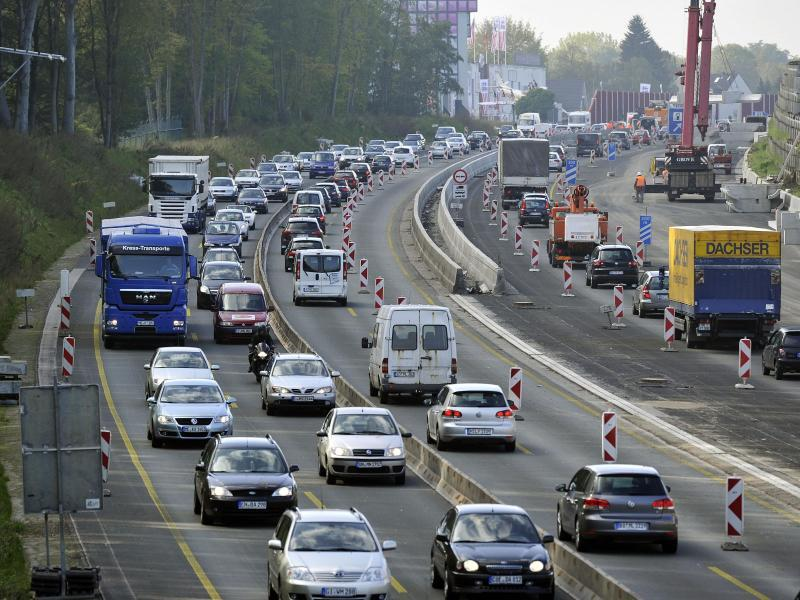 Stau A46 Richtung Wuppertal