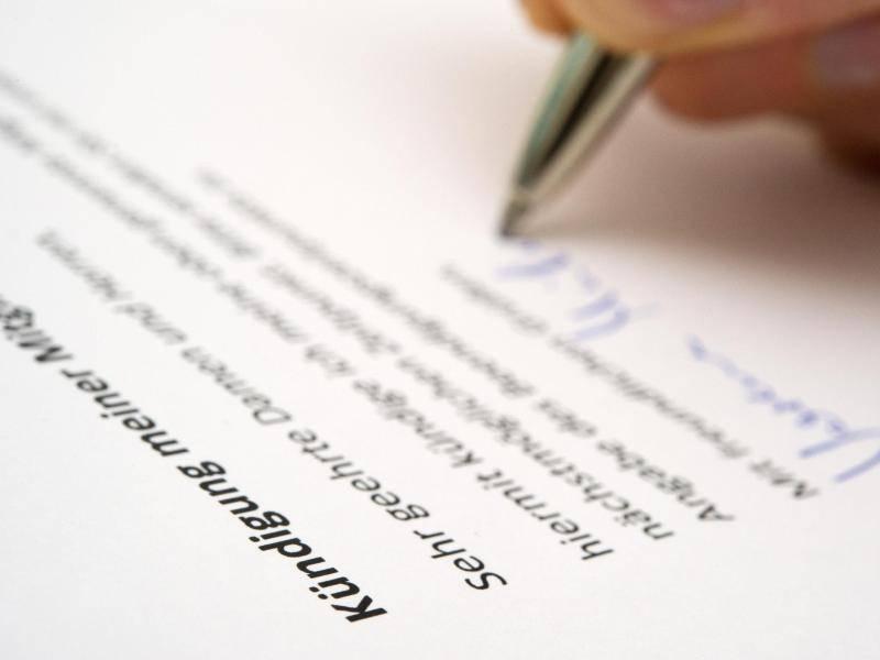 Kündigung Richtig Ausstellen Verträge Kündigen Auf Formulierung Achten