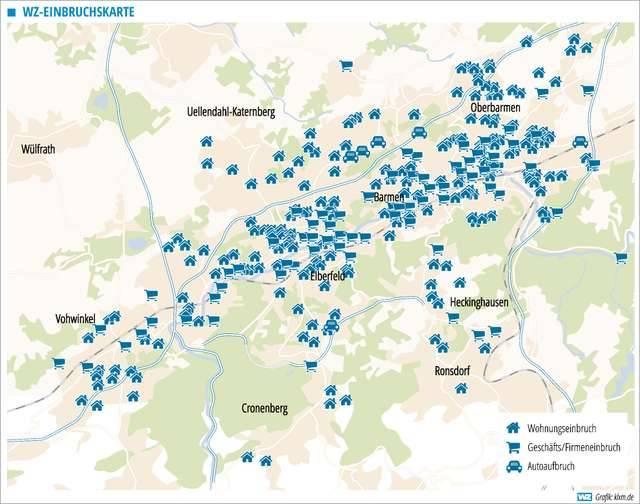 Wuppertal Karte Stadtteile.Einbrecher Einbruche Das Sind Die Brennpunkte In Wuppertal