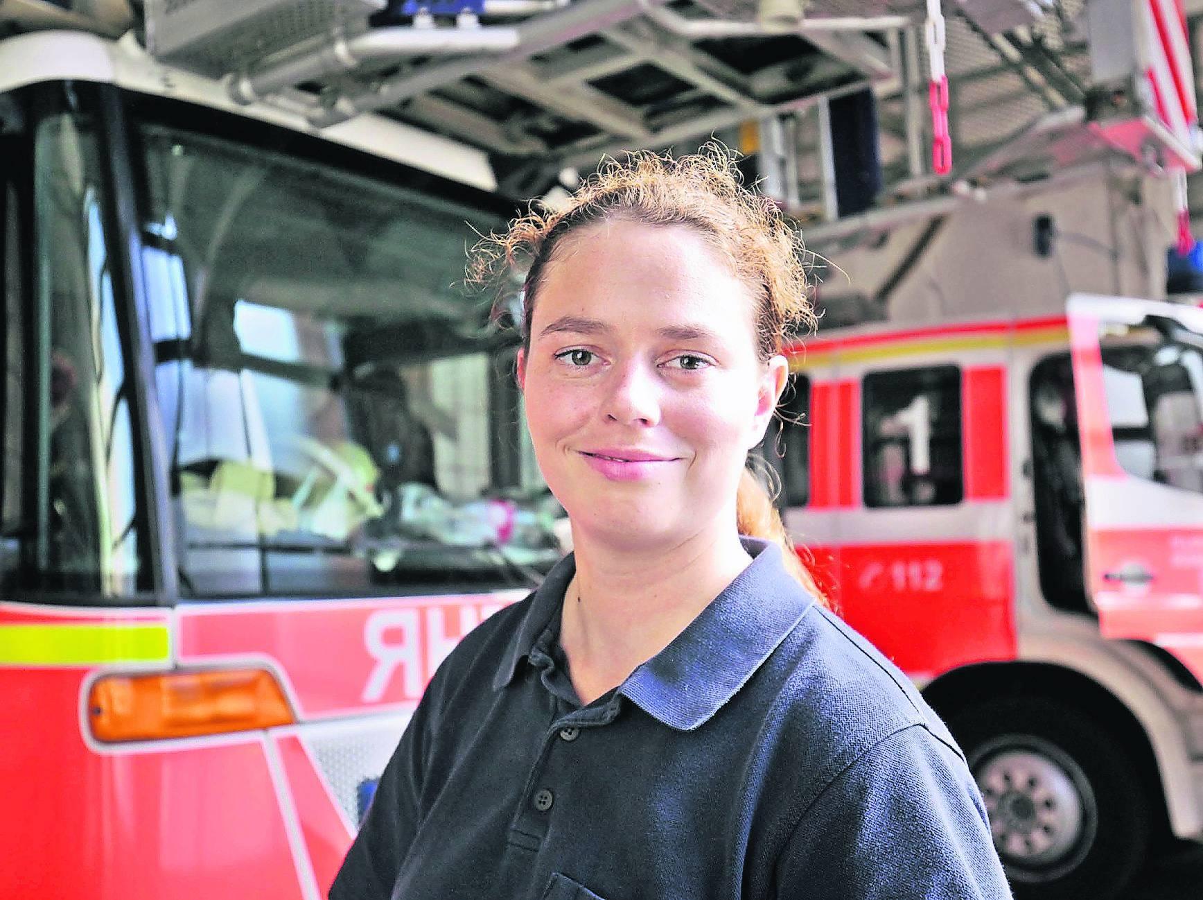 Bei der Feuerwehr Düsseldorf arbeiten nur vier Frauen