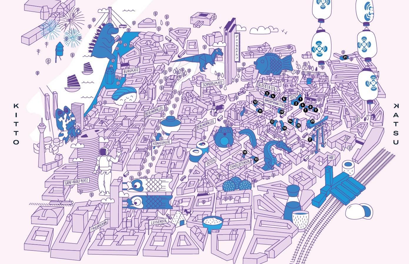 Düsseldorf Karte.Eine Besondere Karte Zeigt Das Japanische Viertel In Düsseldorf