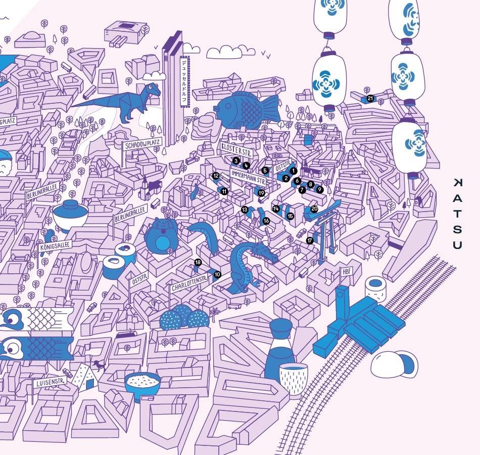 Gastronomie: Ein Wegweiser für das japanische Viertel in Düsseldorf