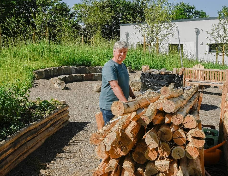 Nordbahntrasse: Nutzgarten der Feuerwache ist fast fertig