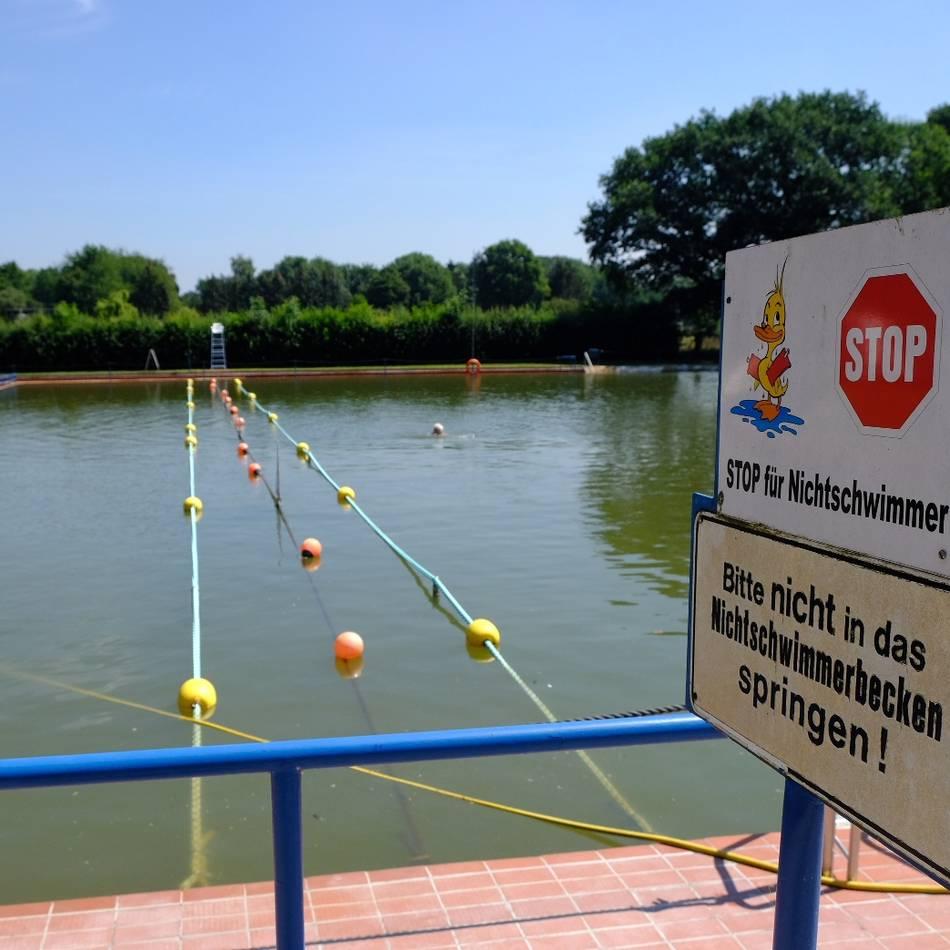 Schwimmen in Hüls : Diesen Sommer gibt es keinen Ersatz für das geschlossene Hülser Bad