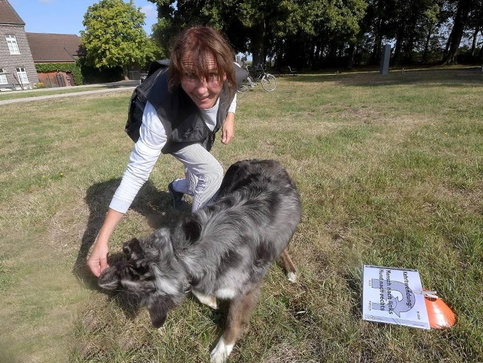 Kempen: Anja Möhwald mit Hund Lobo bei Deutscher Meisterschaft: Mit Hund Lobo auf Punktejagd