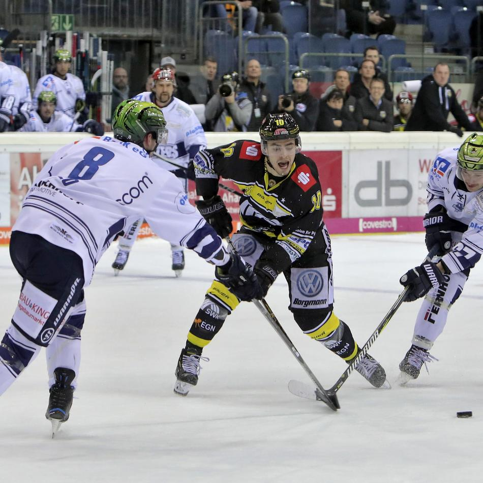 Eishockey: Krefeld Pinguine vs. Iserlohn Roosters - Das Spiel im Liveticker
