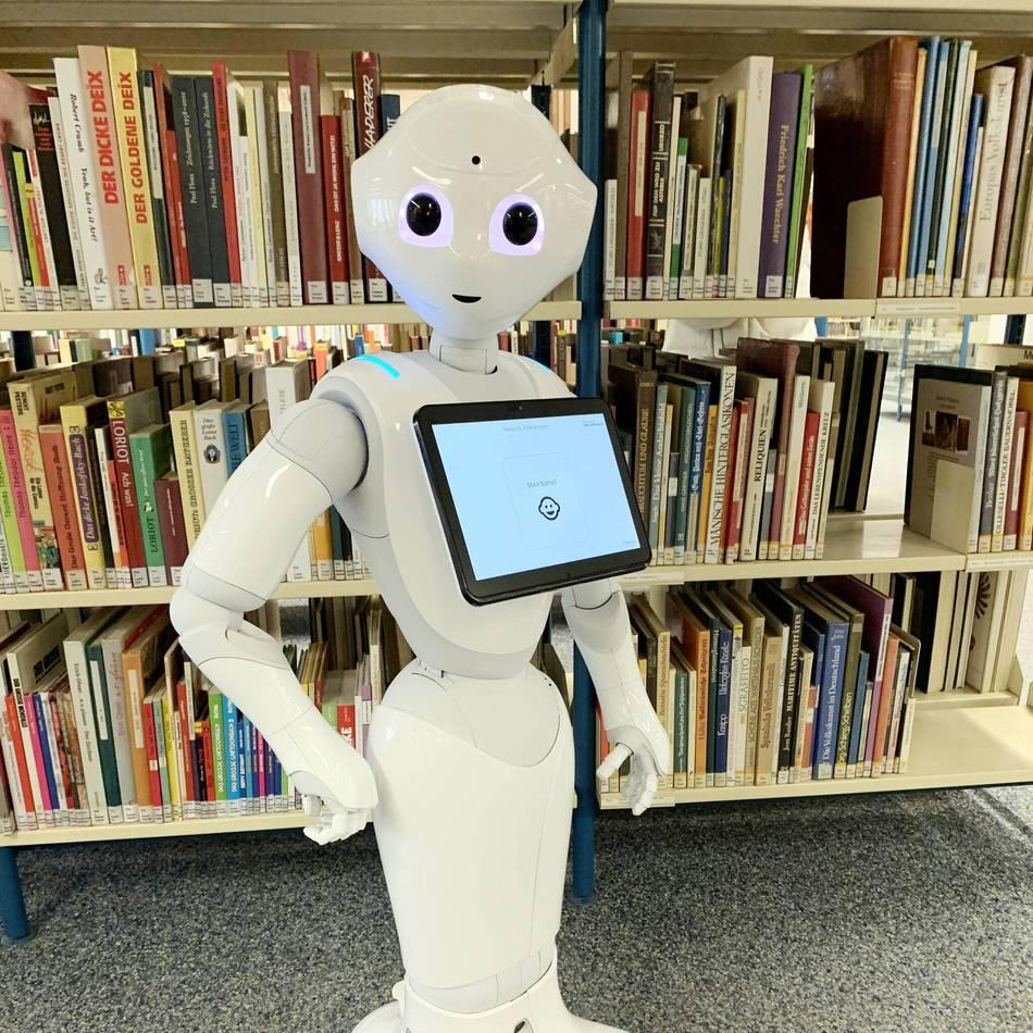Roboter-Technik: Der intelligente Roboter Pepper arbeitet künftig in der Düsseldorfer Zentralbibliothek