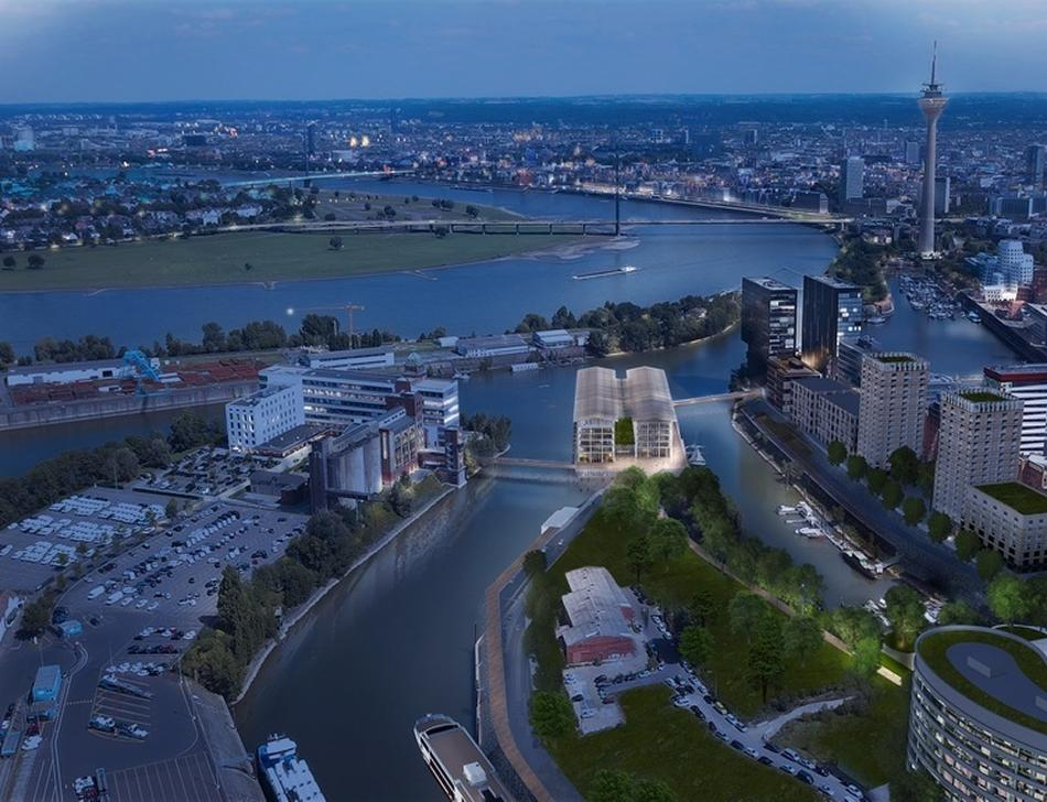 Stadtentwicklung: Pier One: Die Pläne für Ingenhovens Pfahlbauten im Hafen nehmen Formen an