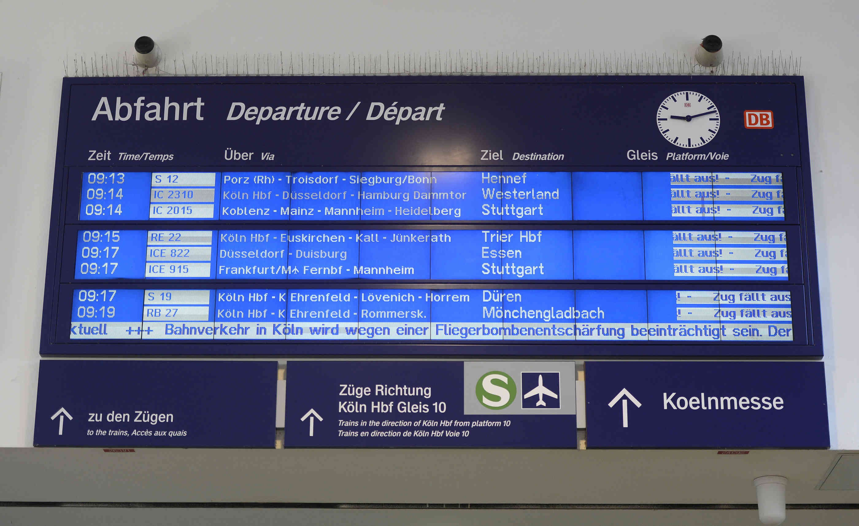 Bombenentschärfung In Köln Deutz