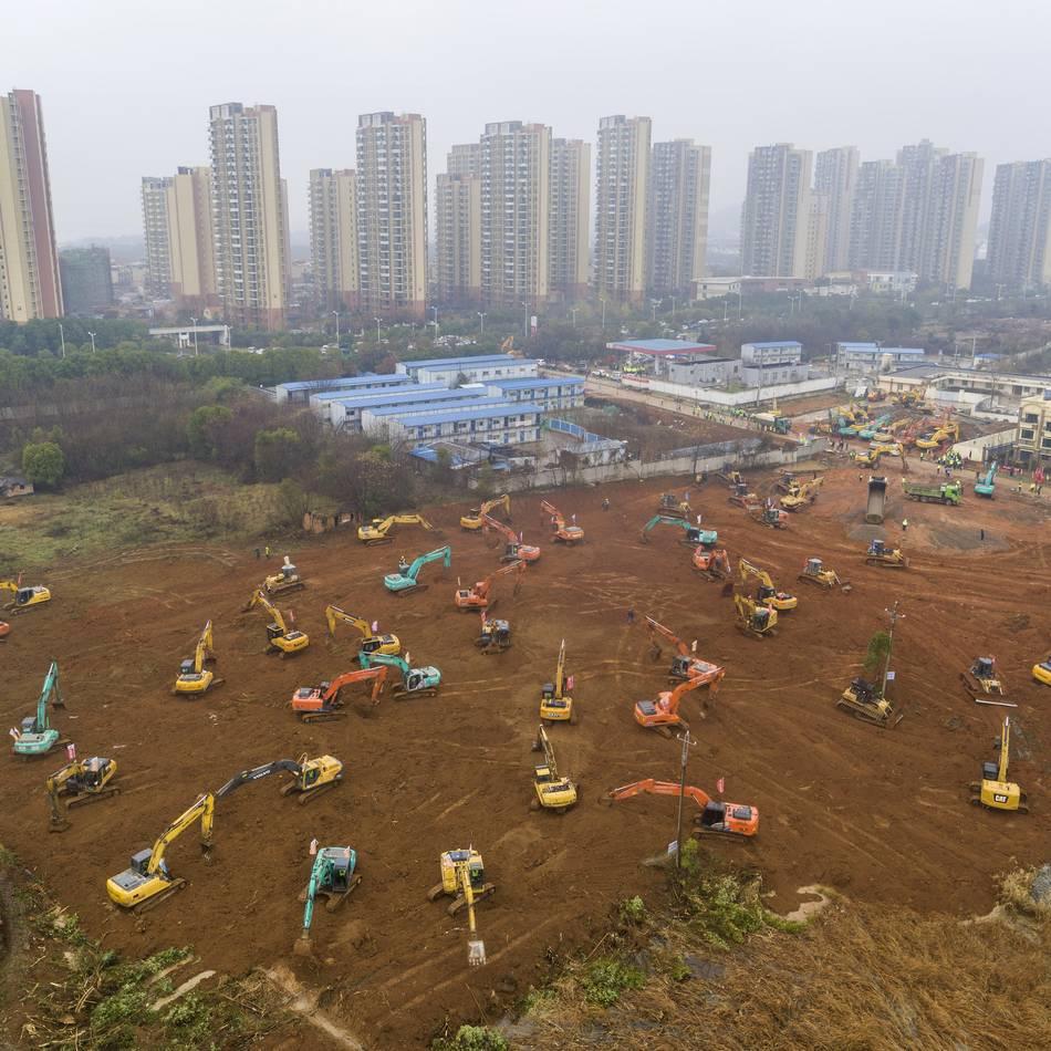 Lungenkrankheit in Wuhan: China baut Krankenhaus in sechs Tagen