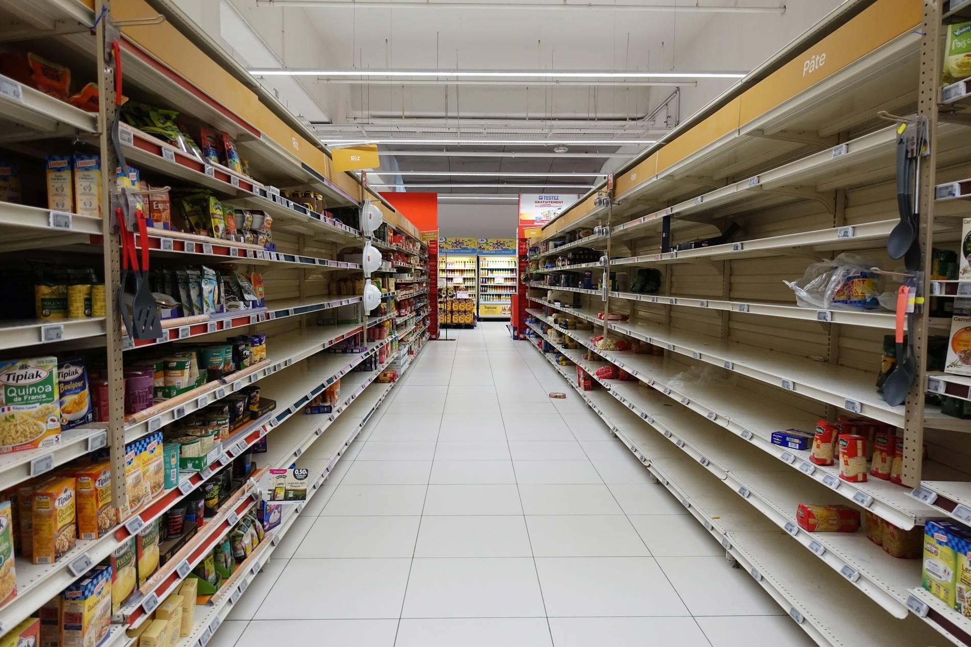 Coronavirus Verursachen Hamsterkaufe Lebensmittelknappheit